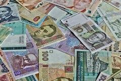 Światowi banknoty Fotografia Royalty Free