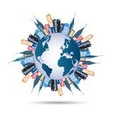 Światowi budynki Obrazy Stock