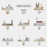 Światowi capitals Zdjęcie Royalty Free