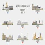 Światowi capitals Fotografia Royalty Free
