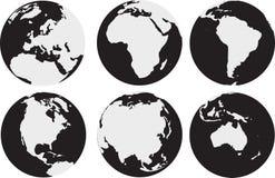 Światowi kontynenty Zdjęcie Stock
