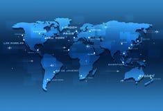 Światowi lotnictw miejsca przeznaczenia Zdjęcia Royalty Free