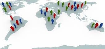 światowi map ludzie Obrazy Stock