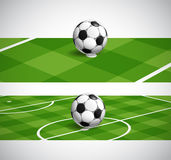 Światowi piłki nożnej mistrzostwa sztandary Zdjęcia Royalty Free