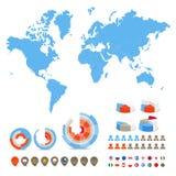 światowi specjalni mapa symbole Zdjęcie Royalty Free