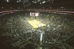 Światowy mistrzostwo Los Angeles Lakers, NBA mecz koszykówki, Staples Center, Los Angeles, CA Fotografia Stock