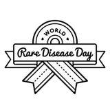 Światowy Rzadki choroba dnia powitania emblemat Zdjęcie Stock