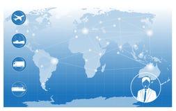 Światowy transport i logistyki ilustracji