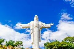 Światowy wielki jezus chrystus staue w Cochabamba, Boliwia - obrazy royalty free