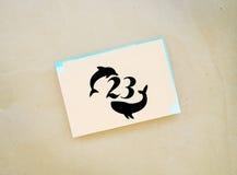 Światowy Wielorybi delfinu dnia emblemat Lipiec 23 Zdjęcia Royalty Free