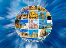 Światowy zabytku kolaż Obraz Royalty Free