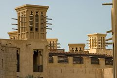 wiatr dubaju wieże obrazy royalty free