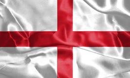 wiatr falowania england flagę St George ` s krzyża 3D illustr Ilustracja Wektor