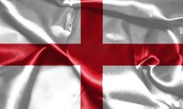 wiatr falowania england flagę St George ` s krzyża 3D illustr Zdjęcie Stock