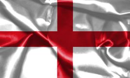 wiatr falowania england flagę St George ` s krzyża 3D illustr Zdjęcie Royalty Free