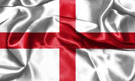 wiatr falowania england flagę St George ` s krzyża 3D illustr Ilustracji