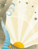 wiatr tła jesienią royalty ilustracja