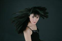 wiatr włosy Obraz Royalty Free