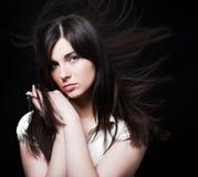 Wiatr w włosy Zdjęcie Stock