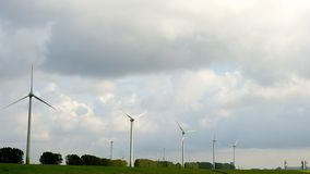 Wiatraczek energia wywołująca zielona Fotografia Stock