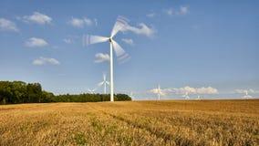 Wiatraczek, grupa wyrównujący wiatraczki dla zasilania elektrycznego pokolenia alternativ Fotografia Stock