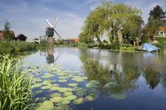 wiatraczek na Graafstroom rzece Fotografia Stock