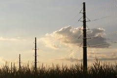 Wiatraczek rolne linie energetyczne 2 Fotografia Stock