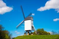 Wiatraczek w Bruges, Północny Europa, Belgia Zdjęcie Stock