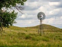 Wiatraczek w Nebraska Sandhills zdjęcie stock