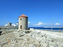 Wiatraczek w Rhodes Zdjęcie Royalty Free