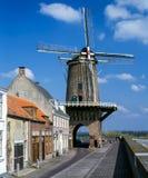 Wiatraczka Wijk bij Duurstede w holandiach Fotografia Royalty Free