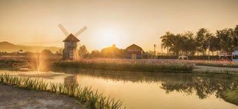 Wiatraczka wschód słońca Zdjęcie Royalty Free