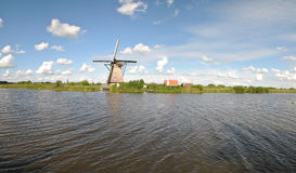 Wiatraczki Kinderdijk 3 Fotografia Royalty Free