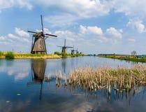 Wiatraczki kinderdijk Holland Fotografia Stock