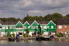 Wiatraczki ogroblają bariery na Północnego morza Peterson holandiach obrazy stock