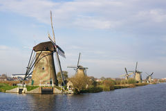 Wiatraczki w Kinderdijk Obrazy Royalty Free
