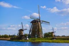 Wiatraczki w Kinderdijk - holandie Obrazy Royalty Free