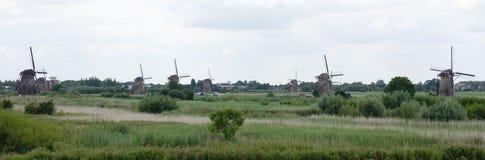 Wiatraczki w Kinderdijk holandie Fotografia Royalty Free