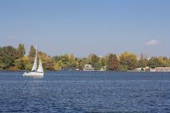Wiatrowa łódź Obrazy Royalty Free