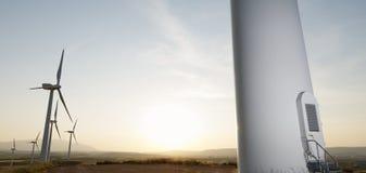 Wiatrowa energia fotografia stock