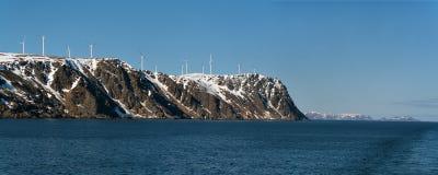 Wiatrowa energia w Norwegia zdjęcia stock