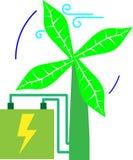 Wiatrowa zielona turbina Obrazy Royalty Free