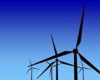 Wiatrowego generatoru turbina na zmierzchu obrazy stock
