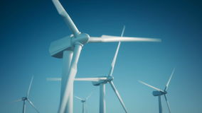 Wiatrowej energii turbina zdjęcie wideo