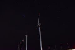 Wiatrowi generatory przy przylądkiem Kaliakra zdjęcie stock