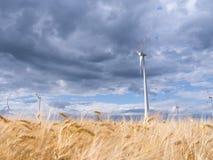 Wiatrowi generatory w krajobrazie Fotografia Royalty Free
