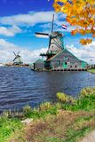 Wiatrowi Holenderów młyny Zdjęcie Stock