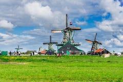 Wiatrowi Holenderów młyny Obrazy Royalty Free