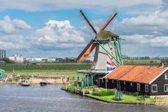 Wiatrowi Holenderów młyny Zdjęcia Royalty Free