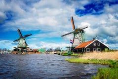 Wiatrowi Holenderów młyny Zdjęcie Royalty Free